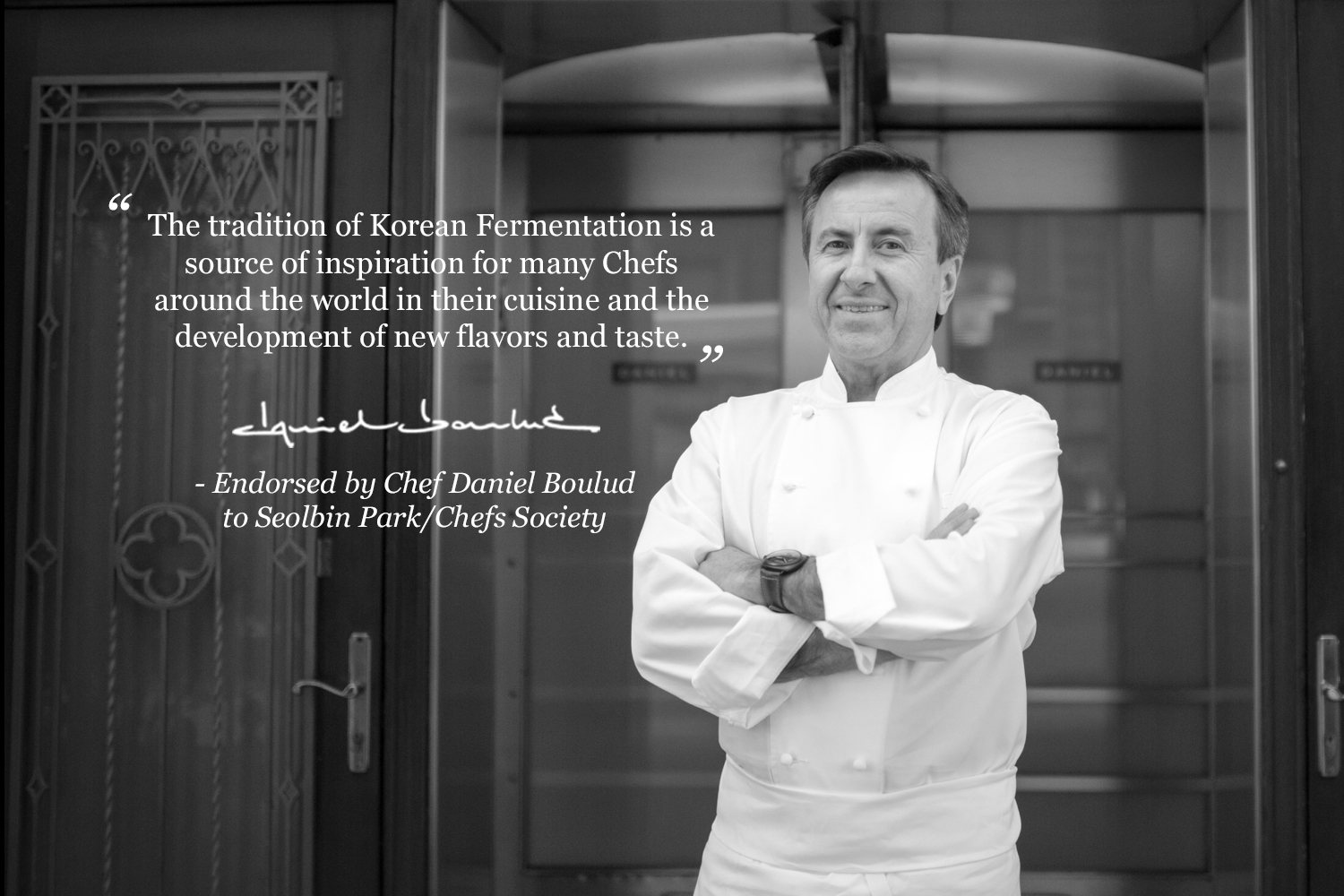 Chefs Society Endorsement by Daniel Boulud