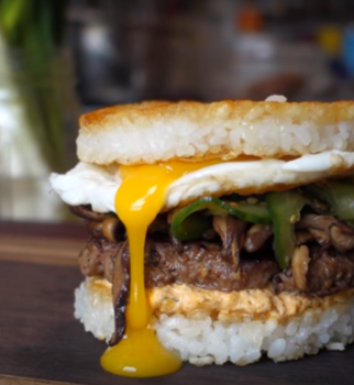 Bibimbap Burger presented by the Brothers Green