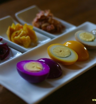Colorful Easter Eggs with Fermented Brine